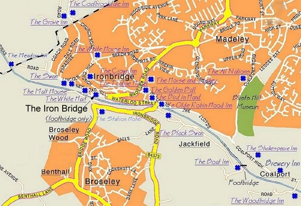 Map of Ironbridge